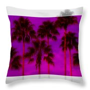 Palm Tree Heaven Throw Pillow