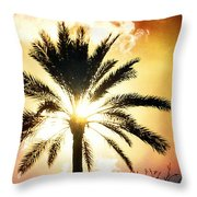Palm Tree In The Sun #2 Throw Pillow
