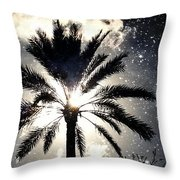 Palm Tree In The Sun #3 Throw Pillow