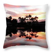 Palm Tree Inlet 2 Throw Pillow