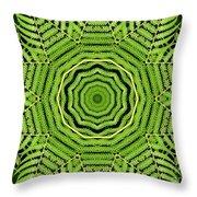 Palm Tree Kaleidoscope Abstract Throw Pillow