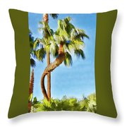 Palm Tree Needs A Chiropractor Painterly I Throw Pillow