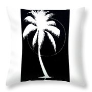 Palm Tree Number 8 Throw Pillow