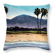 Palm Tree Oasis Throw Pillow