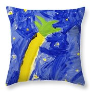 Palm Tree And Stars Throw Pillow