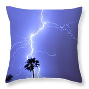 Palm Tree On Strike Throw Pillow