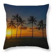 Palm Tree Paradise Throw Pillow