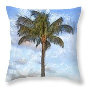 Palm Tree Pencil Throw Pillow