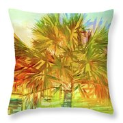 Palm Tree Portrait Throw Pillow
