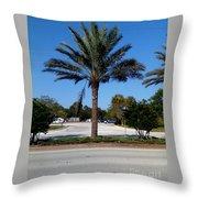 Palm Tree Psl. Throw Pillow