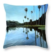 Palm Tree Reflections Throw Pillow