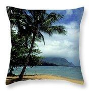Palm Tree Shadows Throw Pillow