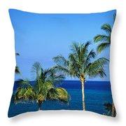 Palm Tree Tops Throw Pillow