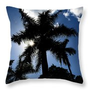 Palm Trees In Silhouette Throw Pillow