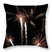 Palm Trees In Space Throw Pillow