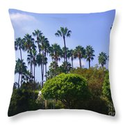 Palm Trees. My Beautiful California Throw Pillow