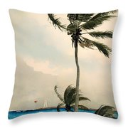 Palm Trees - Nassau Throw Pillow