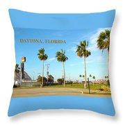 Palm Trees Of Daytona Florida Throw Pillow