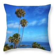 Palm Trees On The Pacific Throw Pillow