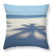Palm Trees Over Fort Myers Beach Fort Myers Florida Throw Pillow