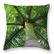 Palm Unbrella Throw Pillow