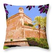Palma De Majorca Old City Walls Throw Pillow