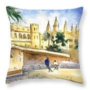 Palma De Mallorca Cathedral Throw Pillow