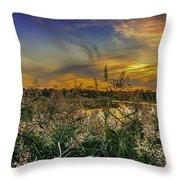 Palmer River At Sunset Throw Pillow