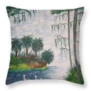 Palmetto Bayou Throw Pillow