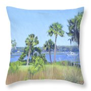 Palmetto Bluff Backyard Throw Pillow