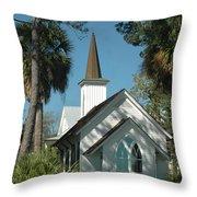 Palmetto Bluff Chapel Throw Pillow