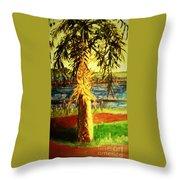 Palmetto Tree Throw Pillow