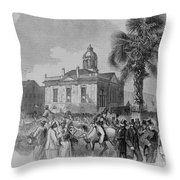 Palmetto Tree And Old Custom House Throw Pillow