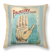 Palmistry Guide Throw Pillow