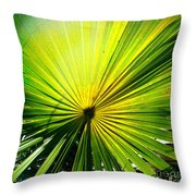 Radial Palm Throw Pillow