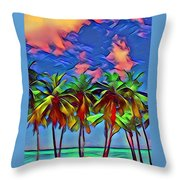 Palms 2 Throw Pillow
