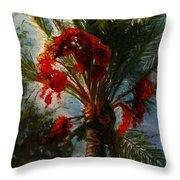 Palm's A Glow Throw Pillow