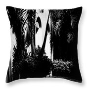 Palms And Arches Throw Pillow