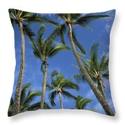 Palms And Blue Sky Throw Pillow