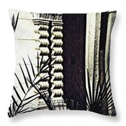 Palms And Columns Throw Pillow