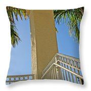 Palms And Stairs Throw Pillow
