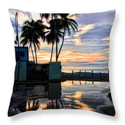 Palms And Sunshine Throw Pillow