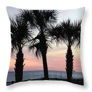 Palms At Sunset  Throw Pillow