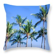 Palms In Living Harmony Throw Pillow