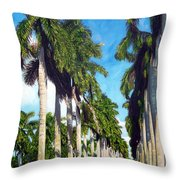 Palms Throw Pillow by Jose Manuel Abraham