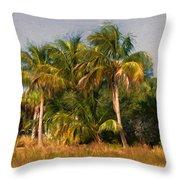 Palms - Naples Florida Throw Pillow