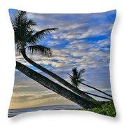 Palms Of Kaanapali Throw Pillow