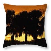 Palmset Throw Pillow