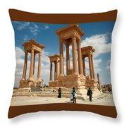 Palmyra-tetrapylon Throw Pillow