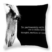 Palomino Art Quote Throw Pillow